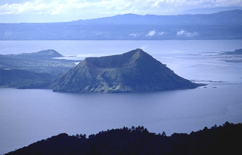 Beautiful view of Taal Lake in Tagaytay, south of Manila
