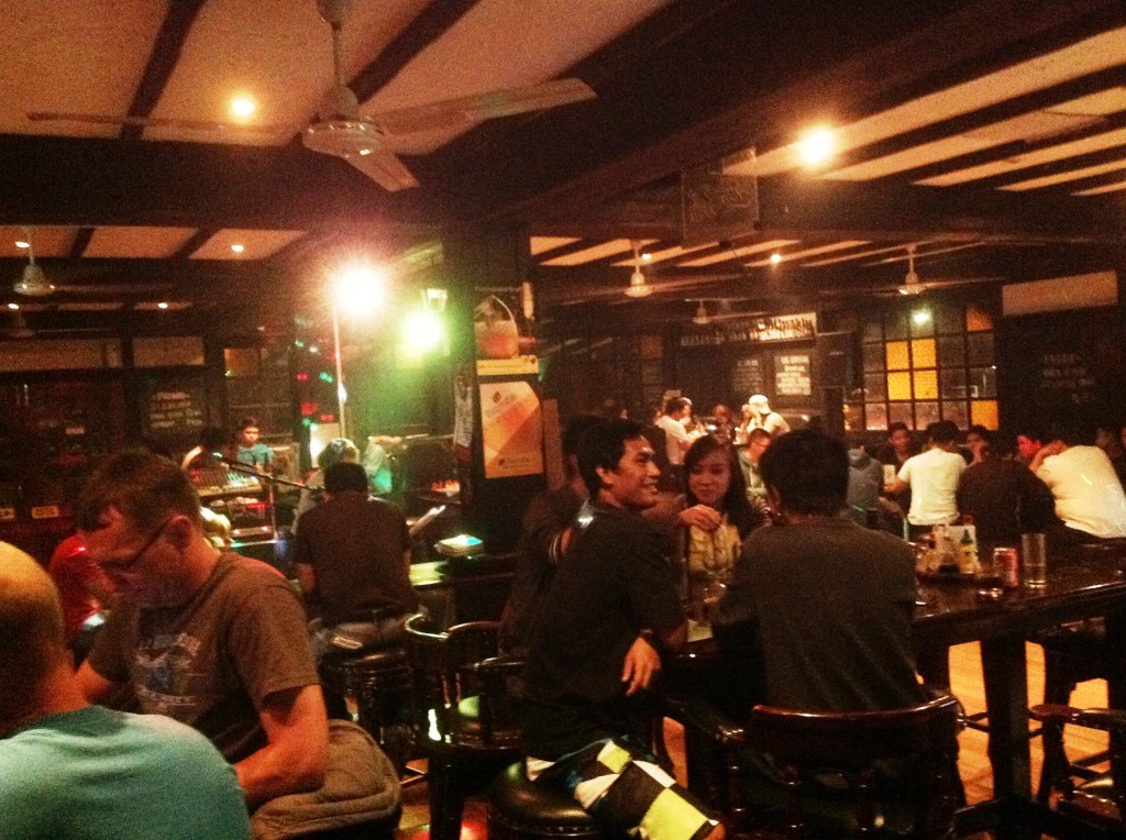 At the London Pub, popular bar in Clark Pampanga Philippines