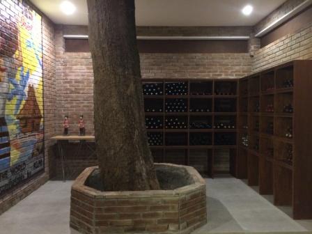 Walk-in Wine Cellar of La Chevrerie Resort in Anailao Batangas
